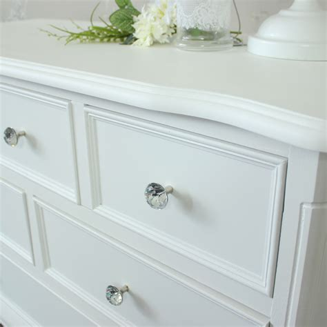 White Chest Of Drawers 80cm Wide by White Wooden Large Chest Of Drawers Shabby Vintage Chic