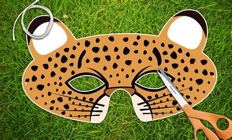 printable cheetah mask cheetah printable pdf childrens party mask halloween mask