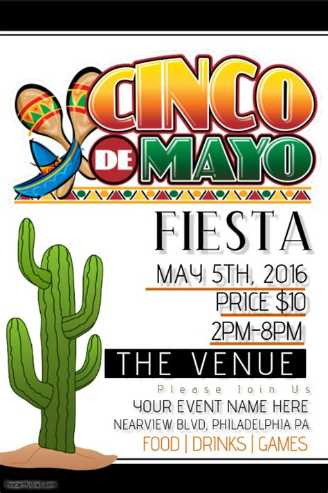 Cinco De Mayo Template Postermywall Cinco De Mayo Template