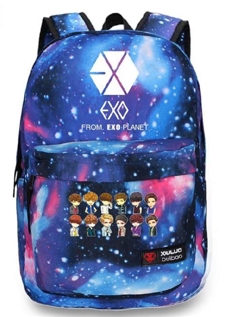 Backpack K Pop Exo Black 4339 B Tas Ransel 1 kpop exo planet exo m exo k luhan starry sky backpack k pop