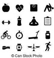 clip art de vectores de conjunto salud icono vector ejercicio salud iconos icono conjunto negro ejercicio