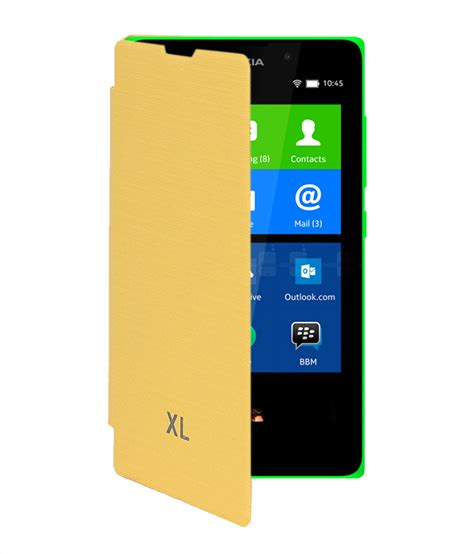 Flip Cover Hp Nokia Xl koloredge flip cover for nokia xl yellow available at shopclues for rs 155