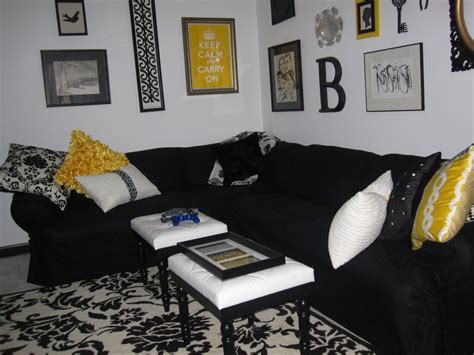 black and yellow living room design black white yellow living room nueva casa living rooms room and living room