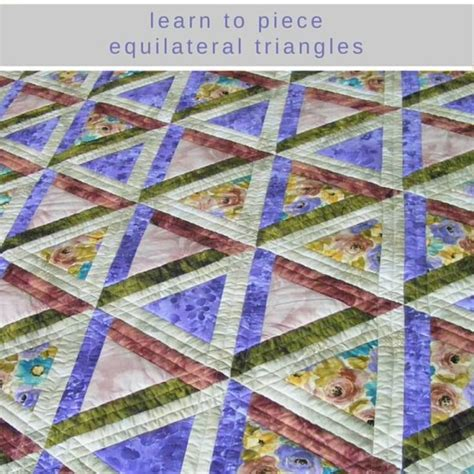 Patchwork And Quilting Patterns - triangle patchwork quilt pattern sew equilateral triangles