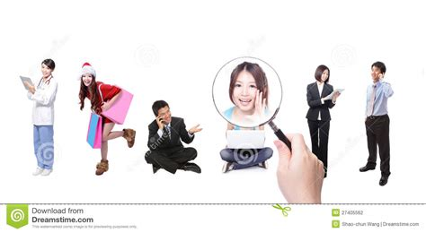 Social Network Search Search Friends By Social Network Stock Photo Image 27405562