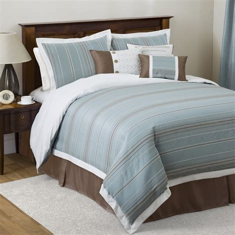 linen comforter set brown and blue bedding bedroom ideas pictures