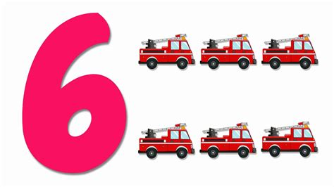 Pictures With Numbers trucks numbers learn numbers from 1 to 6 number