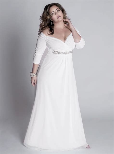 Plu Size Wedding Dresses by Fall Plus Size Wedding Dresses With Sleeves For