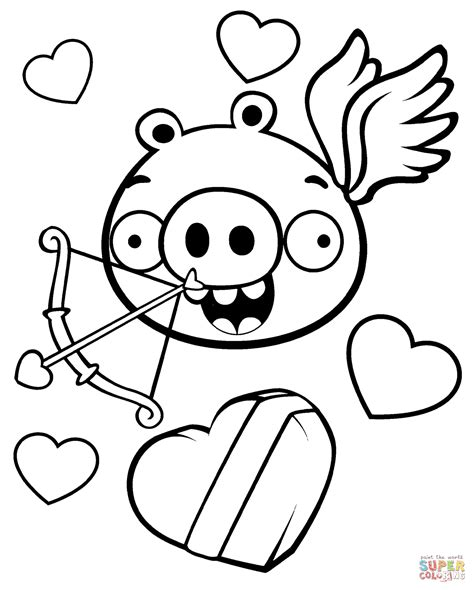 valentine pig coloring page minion pig valentine theme coloring page free printable