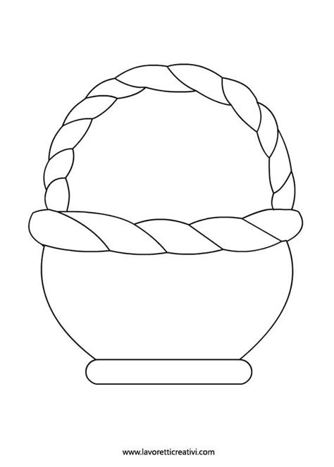 easter basket template templates pinterest