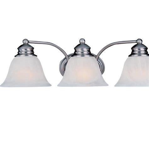 Satin Nickel Vanity Light by Maxim Lighting Malaga 3 Light Satin Nickel Bath Vanity