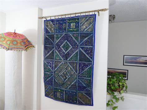 home interior wall hangings ethnic wall tapestry home decor idea quot blue ganges