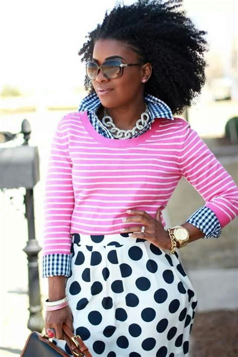 Small Polka Mix Shirt gingham stripes polka dots all the color looks i favorite styled looks