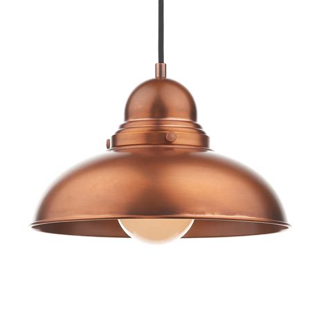 Dar Dyn0164 Dynamo 1 Light Antique Copper Ceiling Pendant Copper Ceiling Lights