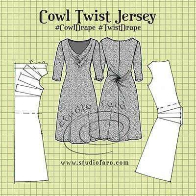 sewing pattern basketball jersey cowl twist jersey dress interesting patterns