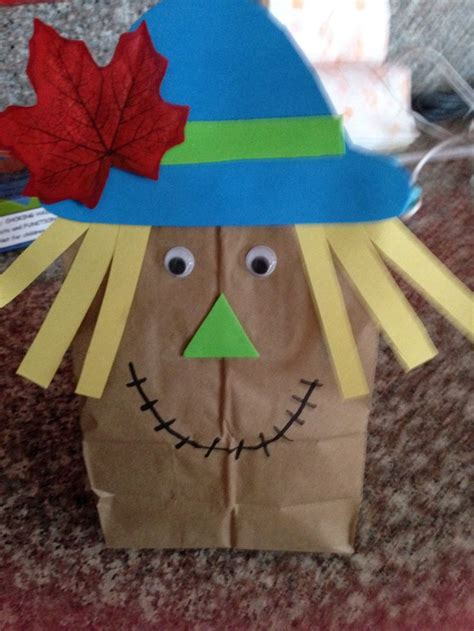 Scarecrow Paper Bag Craft - paper bag scarecrow scout crafts