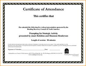 sample certificate of attendance template 5 best and