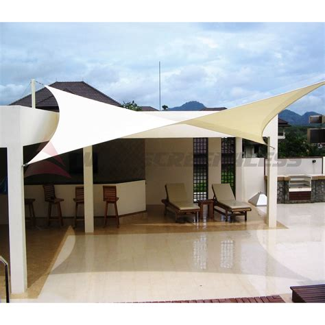 Patio Canopy Cover by 10 X 15 Waterproof Sun Shade Sail Fabric Outdoor Canopy