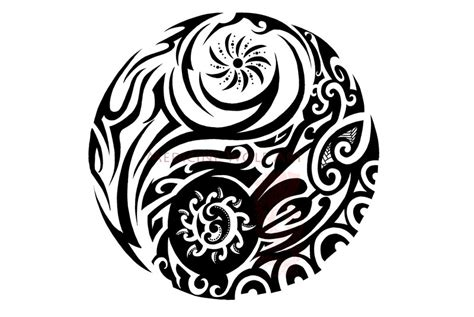 yin yang tribal tattoo designs yin yang designs