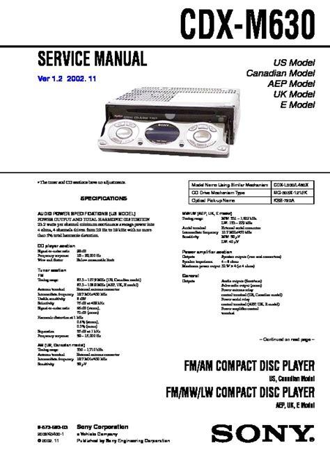 sony cdx m610 wiring diagram sony cdx gt35u wiring diagram