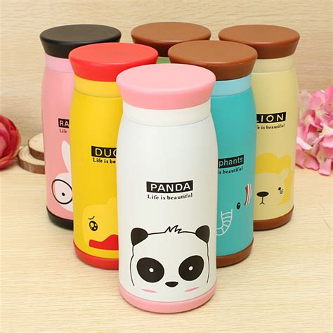Animal Stainless Vacuum Flask Thermos Size 350ml animal vacuum flask thermos tea water cup bottle