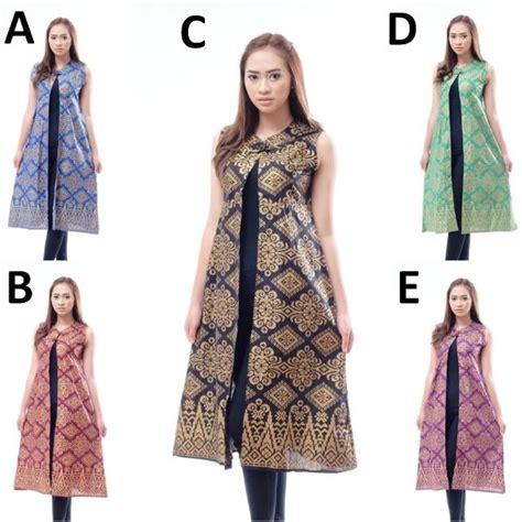 Batik Hana Dres Batik Bolero Batik Kemeja jual rpr001 rompi batik panjang pra da cardigan blazer longvest wanita murah di lapak blouse