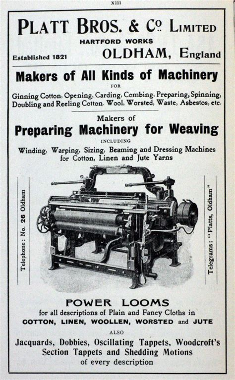 cotton mill machinery calculations a complete comprehensive and practical treatment of all necessary calculation on cotton carding and spinning machines classic reprint books platt brothers graces guide