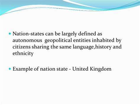 Nation State Definition Examples