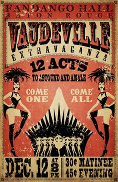 vaudeville poster template vintage carnival fair fairground circus poster