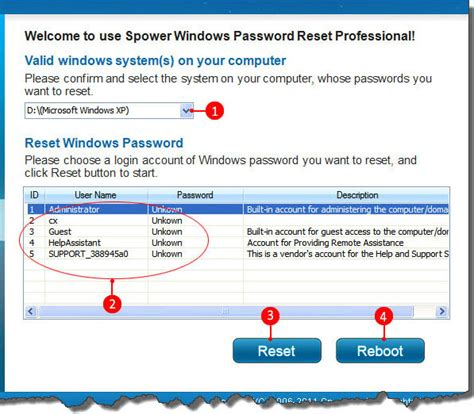 password reset on xp forgot windows xp administrator password how to recover