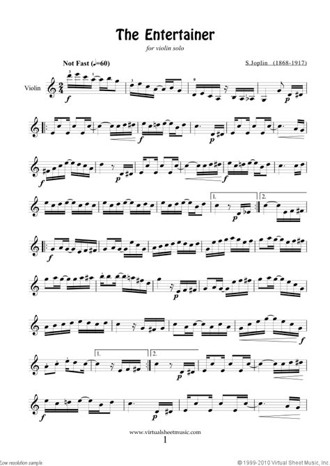 free printable sheet music violin popular songs free joplin the entertainer sheet music for violin solo