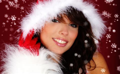 wallpaper christmas babe christmas babe free desktop wallpapers for widescreen