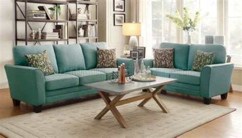 adair sofa 8413tl in teal fabric by homelegance w options
