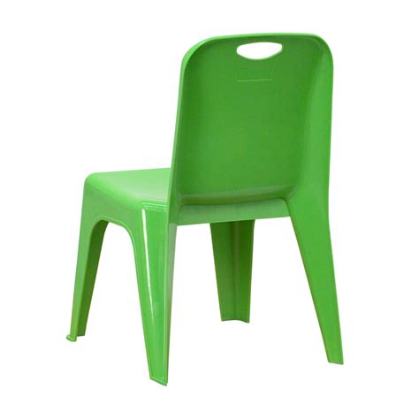 Green Plastic Chairs by Green Plastic Stackable School Chair With Carrying Handle