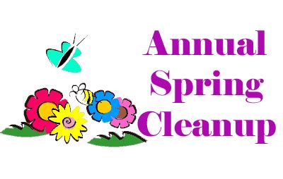 spring cleanup easter spring cleanup sat april 7 10 am 1 pm