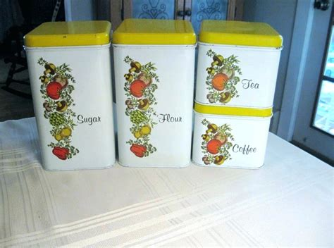 vintage metal kitchen canister sets metal canister sets retro fifties kitchen set vintage tin