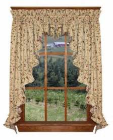 cherry kitchen curtains cherry blossoms print ruffle 3 swag curtains set 132