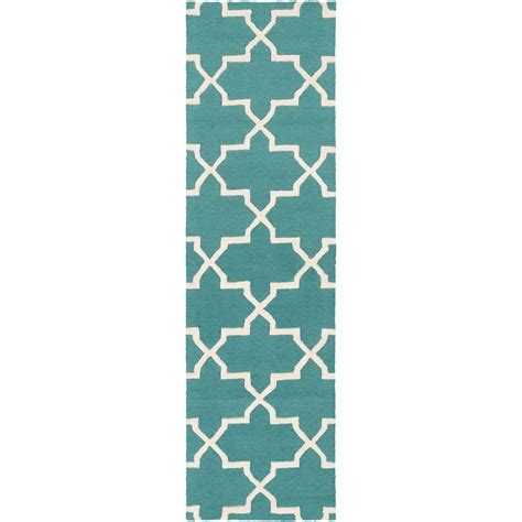 rug runners 2 x 14 artistic weavers pollack keely teal 2 ft 3 in x 14 ft indoor rug runner awdn2027 2314 the