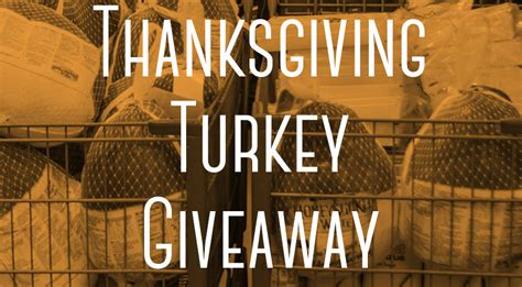 Blog Giveaway - thanksgiving turkey giveaway the bridge church blog