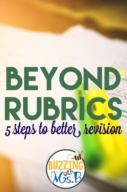 Buzzing With Ms B Sales - buzzing with ms b beyond rubrics five steps to better
