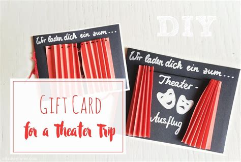 Theater Gift Cards - gift card theater opera trip geldgeschenke pinterest