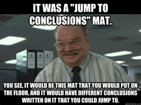 Office Space Jump To Conclusions Mat Strategic Skills Complex Decisions