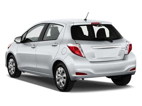 Rear View All New Yaris 2014 image 2014 toyota yaris 5dr liftback auto le tmc cbu plant gs angular rear exterior view