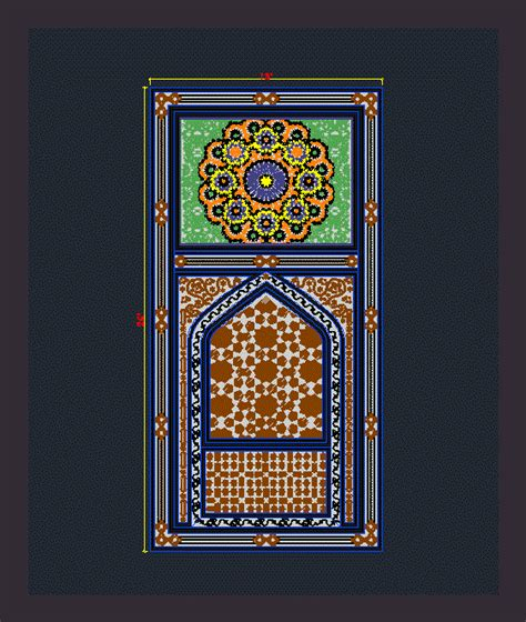 islamic pattern elevation islamic motif design dwg block for autocad designs cad