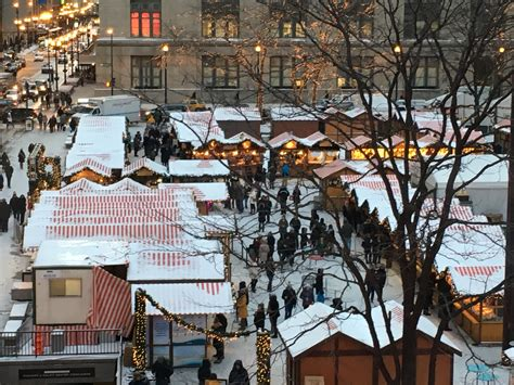 police presence outside daley plaza christmas market after