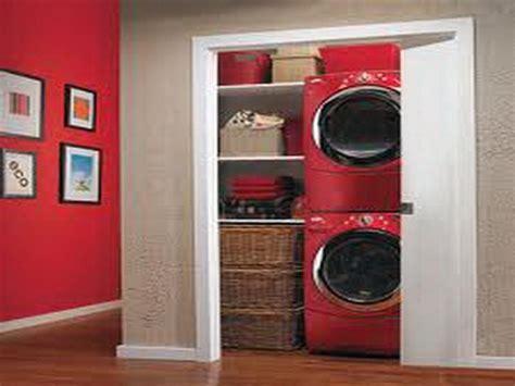 laundry closet ideas with push door bathroom