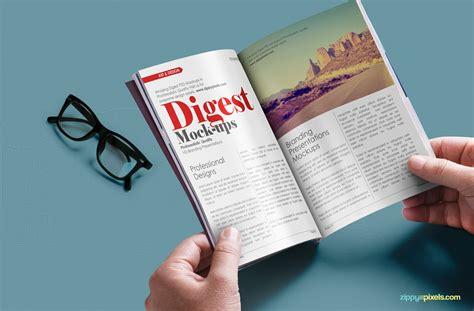 download layout majalah psd free digest size magazine psd mockup zippypixels
