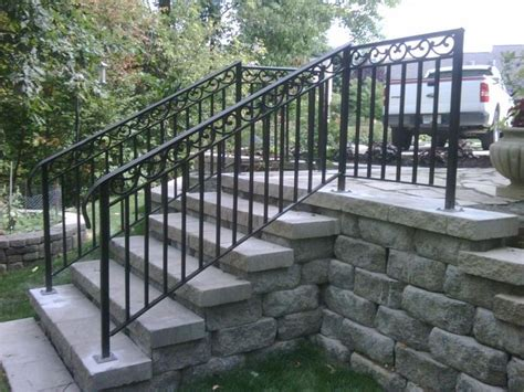 Exterior Banister railing stairs exterior fence iron work backyard