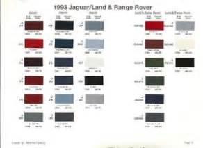 Jaguar Paint Colors 1993 Jaguar Land Rover Paint Color Sle Chips Card