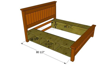how to make a bed frame how to build a bed frame with drawers howtospecialist